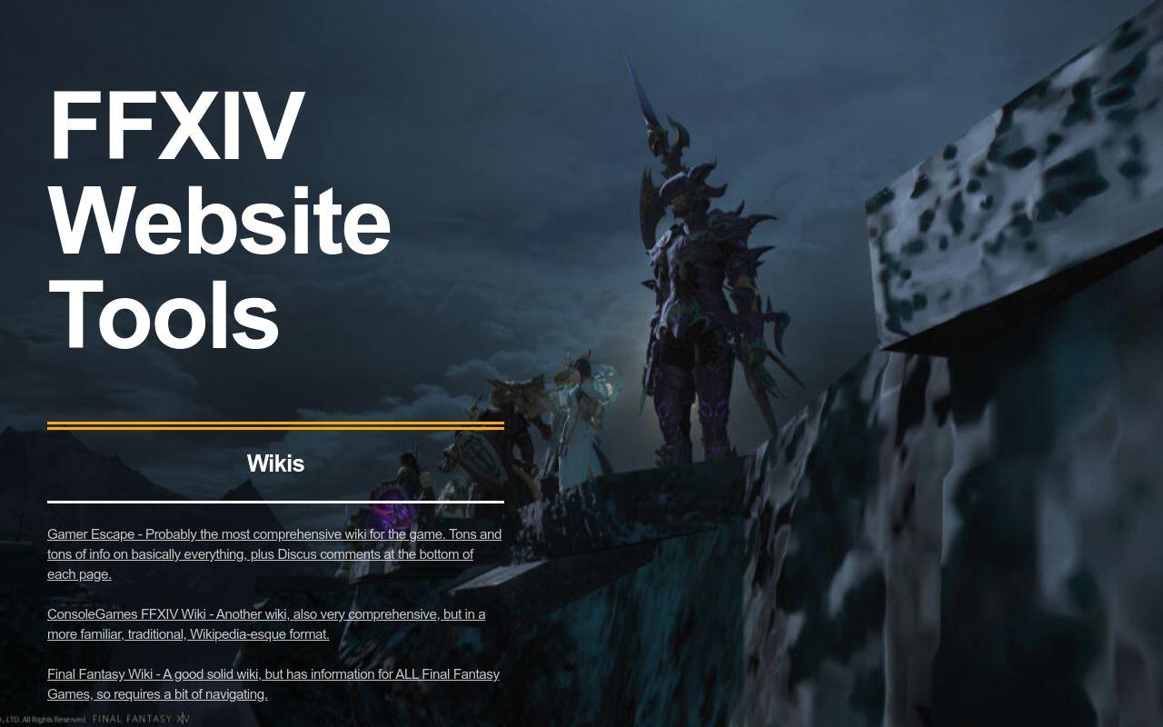FFXIV Website Tools